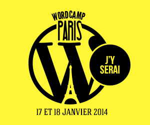 Je serai au WordCamp Paris 2014 !
